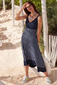 Heine Crossover Striped Dress - 252030