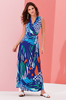 Kaleidoscope Animal Maxi Dress - 252033