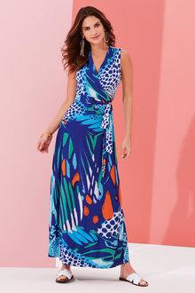 Kaleidoscope Animal Maxi Dress - 252033
