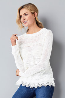 Kaleidoscope Broiderie Textured Jumper - 252035
