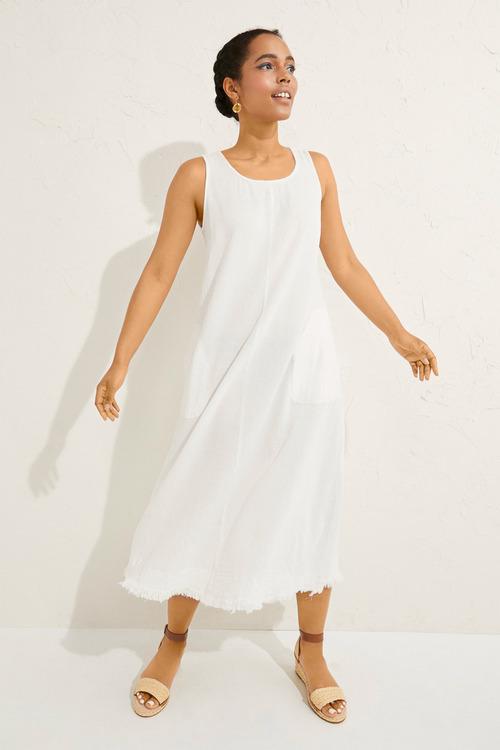 Emerge Fray Hem Midi Dress