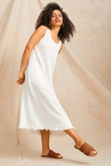 Emerge Fray Hem Midi Dress - 252047