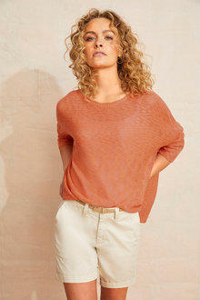Emerge Textured 3/4 Sleeve Knit - 252049