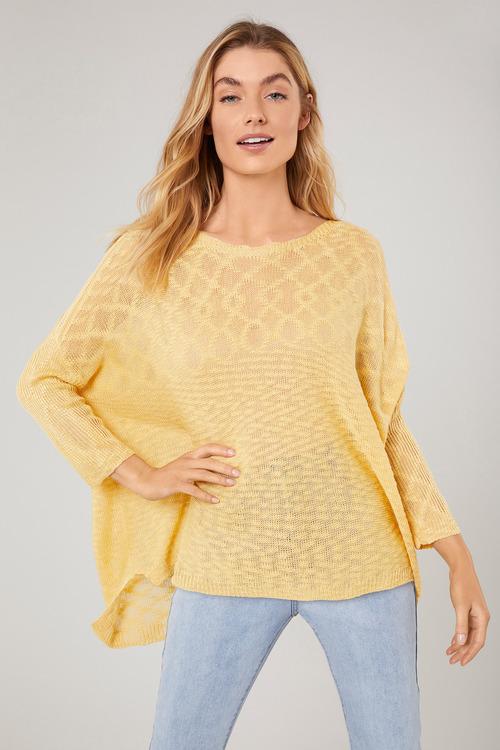 Emerge Textured 3/4 Sleeve Knit