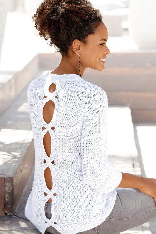 Urban Back Detail Knit Jumper