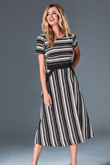 Kaleidoscope Striped Dress - 252068