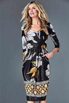 Kaleidoscope Border Print Dress - 252071