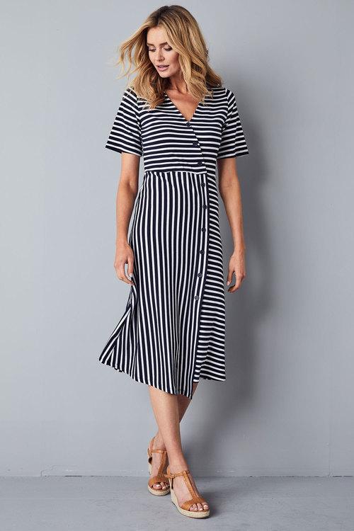 Kaleidoscope Striped Button Down Dress