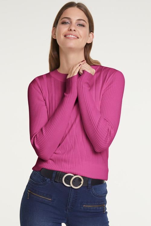 Heine Diamond Ribknit Pullover