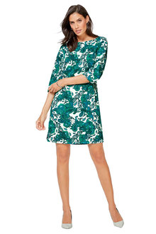 Euro Edit Paisley Pull On Dress - 252086