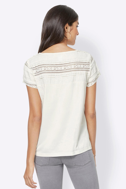 Euro Edit Lace Detail Top