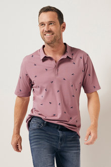 Southcape Allover Printed Polo - 252125