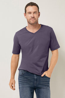 Southcape Pima Cotton V Neck Tee - 252127