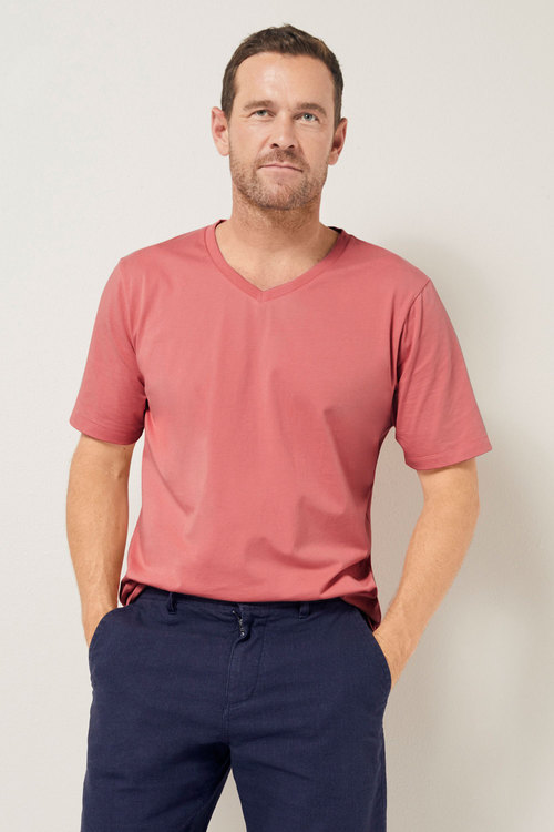 Southcape Pima Cotton V Neck Tee