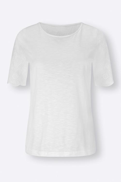 Euro Edit Broidery Sleeve Top