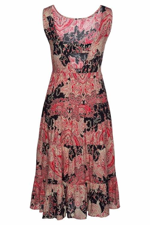 Urban Printed Tiered Midi Dress