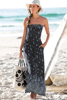 Urban Printed Beach Maxi Dress - 252142