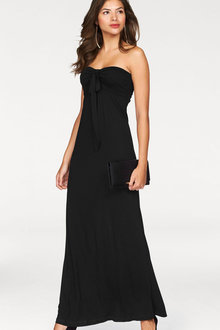 Urban Neck Tie Maxi Dress - 252145