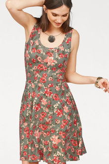 Urban Printed Fit & Flare Dress - 252146