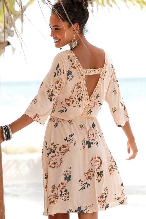 Urban Waisted Print Dress
