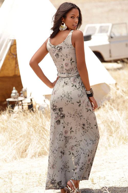 Urban Waist Tie Maxi Dress