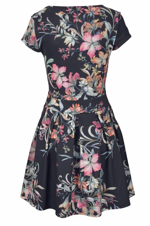 Urban Printed Scuba Dress