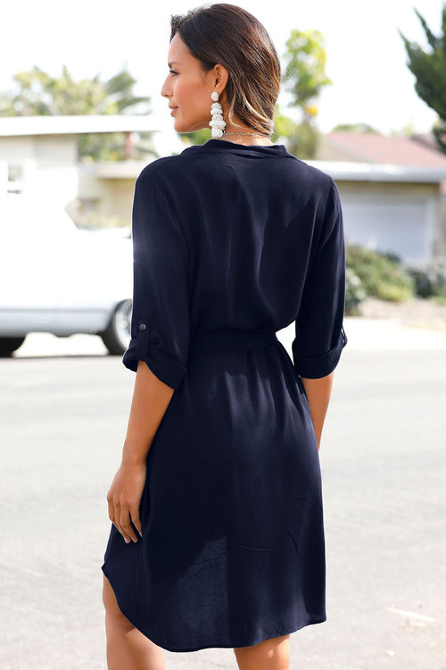 Urban Front Pleat Tie Dress