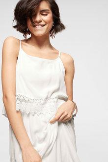 Urban Lace Trim Dress - 252170
