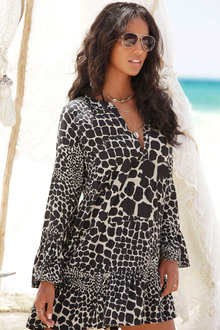 Urban Animal Print Beach Dress - 252171