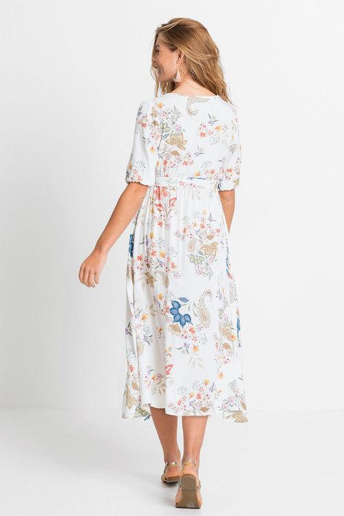 Urban Floral Midi Dress