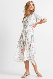 Urban Floral Midi Dress - 252173