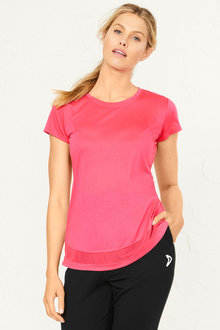 Isobar Active Mesh Insert Tee - 252189