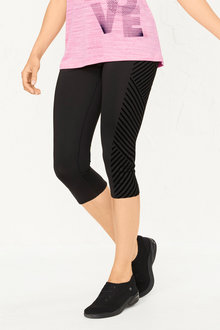 Isobar Active 3/4 Length Flocked Legging - 252191