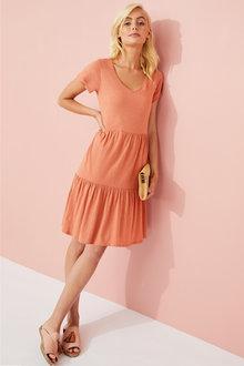 Emerge Organic Cotton Tiered Dress - 252197