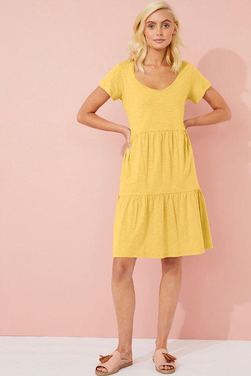 Emerge Organic Cotton Tiered Dress
