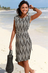 Urban Printed Midi Beach Dress