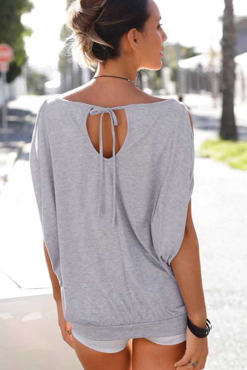 Urban Sequin Cold shoulder Top