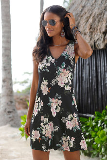 Urban Button Beach Dress - 252215
