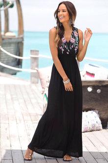 Urban Print Maxi Dress - 252216