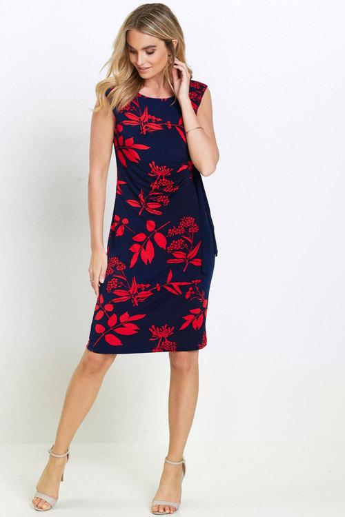 Euro Edit Floral Shift Dress