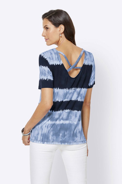 Euro Edit Cross Back Detail Top