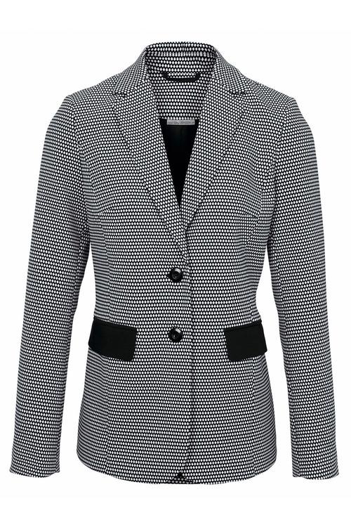 Heine Black and White Spot Jacket