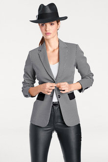Heine Black and White Spot Jacket - 252237