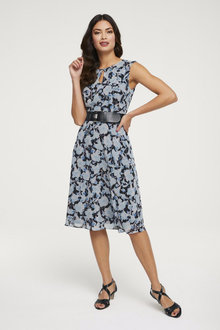 Heine Print Sleeveless Dress - 252245