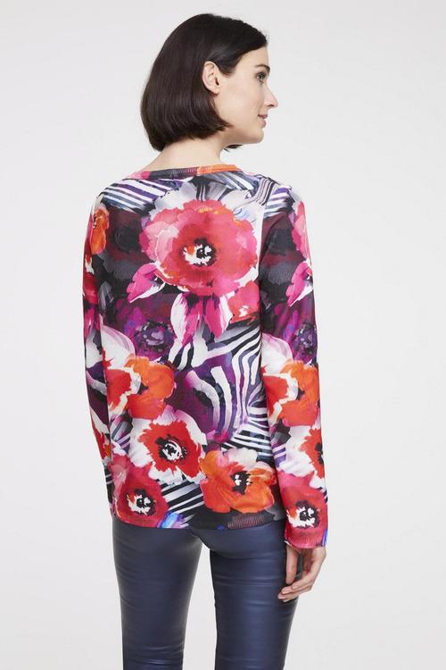 Heine Long Sleeve Print Pullover