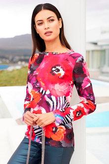 Heine Long Sleeve Print Pullover - 252250