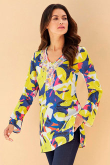 Heine Long Sleeve Print Tunic - 252251