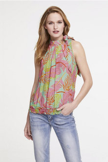 Heine Sleeveless Print Top - 252253
