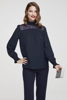 Heine Long Sleeve Detailed Blouse - 252255