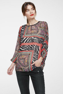 Heine Long Sleeve Print Blouse - 252256